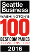 Seattle Business - Washingtons 100 Best Companies To Work For Award 2016